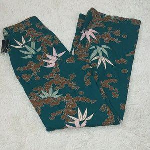 Zara Pants - NWT Zara floral print wide leg slacks pants sz Med